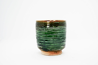 Nádoby - Yunomi zelené |čajová miska| - 13308021_