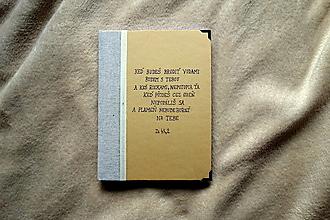 Papiernictvo - Ručne šitý zápisník- diár s biblickým citátom - 13307876_