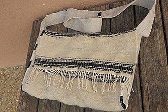 Veľké tašky - Tkaná vlnená kapsa - 13310238_