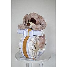 Detské doplnky - Plienková torta MOTORKA - 13307574_