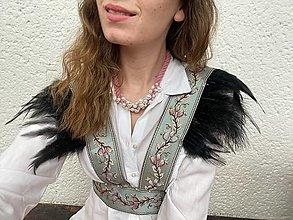 Náhrdelníky - Perličkový náhrdelník - růžový - 13306856_