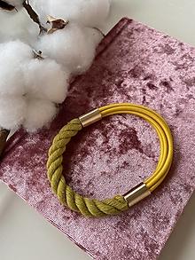Náramky - Žlutý lanový náramek - 13306867_