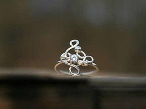 Prstene - Prstienok so zirkónom - 13308904_