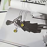 Náhrdelníky - Kvetový púčik strieborný náhrdelník - yellow - 13307791_