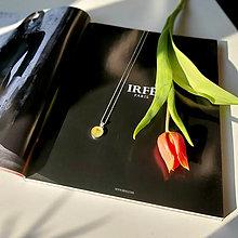 Náhrdelníky - Kvetový púčik strieborný náhrdelník - yellow - 13307793_