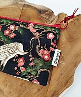 Taštičky - Taštička Japan, žeriav a sakura - 13309001_