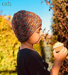 Detské čiapky - Prechodná čiapka - KolomDokola, vhodná aj pre malé Onkoláčičky  (Pestrofarebná) - 13310325_