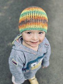 Detské čiapky - Letná Véčková čiapka - Cutie - 13310348_