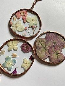 Kľúčenky - Klúčenky so sušenými kvetmi - 13307329_