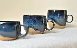 Nádoby - Keramický hrnček z kameniny tmavomodrý - rôzne veľkosti - 13307816_