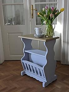 Nábytok - Stolík a stojan na noviny v jednom - 13309046_