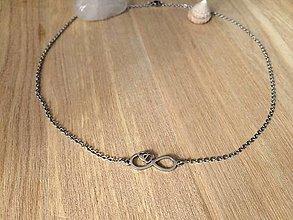 Náhrdelníky - náhrdelník s nekonečnom-oceľ - 13307685_