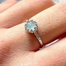 Prstene - Simple Aquamarine AG925 Ring  / Strieborný prsteň s akvamarínom - 13312158_