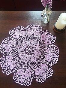 Úžitkový textil - Stredový kruhový obrus v levanduľovej farbe - 13310930_