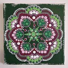 """Obrazy - 0brázok """"Pocitová mandala Zelený kvet 1"""" - 13311676_"""