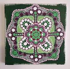 """Obrazy - Obrázok """"Pocitová mandala Zelený kvet 2"""" - 13311694_"""