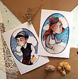 Grafika - Slečna A. a pán G./ reprodukcie ilustrácií - 13311318_