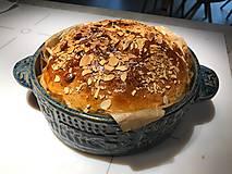 Nádoby - Okrúhla forma na chleba s čipkou tyrkysová pre Evku - 13313608_