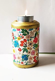 Svietidlá a sviečky - Svietnik na čajovú sviečku - 13311816_