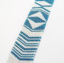 Náramky - Modrobiela geometria - 13312252_