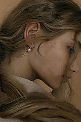 Náušnice - Strieborné visiace náušnice so swarovski perlami - 13311300_