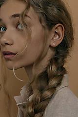 Sady šperkov - Strieborný set - náušnice a prsteň s mini kruhmi (prázdne) - 13311518_