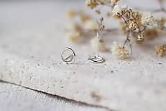 Sady šperkov - Strieborný set - náušnice a prsteň s mini kruhmi (prázdne) - 13311519_