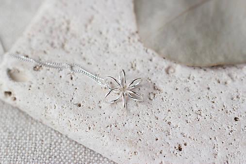 Strieborný náhrdelník s kvetom