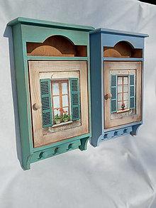 Krabičky - Skrinka na kľúče okno - 13312178_
