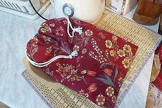 Úžitkový textil - bavlnené  vrecko-tulipán - 13313822_