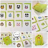 Hračky - Vyšívané pexeso so zvieratkami - 13313675_