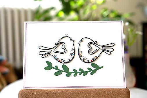 Svadobná veľká pohľadnica