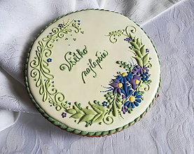 Dekorácie - Ornament s kvetmi - medovník 19 cm  - 13315428_