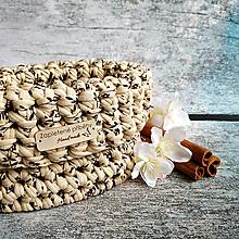 Košíky - Tiramisu   malý háčkovaný košík - 13316510_