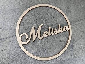 Dekorácie - Drevený kruh na výrobu lapača snov meno - 13317487_