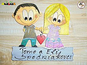 Tabuľky - Menovka - dvojica - 13317300_