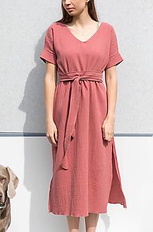 Šaty - Mušelinove šaty 2v1 - 13316704_