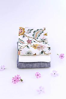 Šatky - Výhodný set - elegantné dámske šatky okolo krku a vlasov z ľanu a bavlny - 13316842_