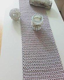 Úžitkový textil - Prestieranie štóla ružovo šedá  (cca 40 x 160cm) - 13315450_