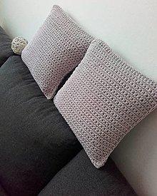 Úžitkový textil - Vankúš ružovošedý na 40x40cm - 13316249_