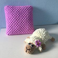 Úžitkový textil - fialkovo-ružový vankúšik - z Puffy Fine - 13317536_