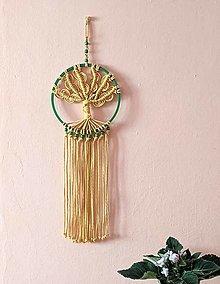 Dekorácie - Macramé strom žltý - 13315501_