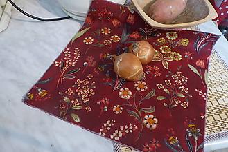 Úžitkový textil - voskovaný obrúsok-tulipán - 13318176_