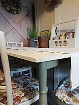 Nábytok - Zrenovovaný jedálenský stôl so 4 stoličkami, vidiecky ... - 13316314_