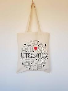 Nákupné tašky - •ručne maľovaná plátená taška - Niečo pre čitateľov• - 13317980_