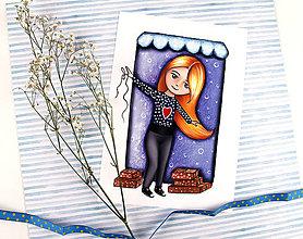 Kresby - Art Print Obchodníčka - 13316363_