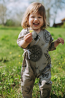 Detské oblečenie - Kimono overal - 13318015_