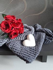 Úžitkový textil - Pletená deka - 13316900_