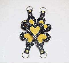 Kľúčenky - Kľúčenky- čierno žltý úsmev - 13317943_