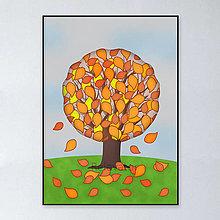 Grafika - Strom grafika - jeseň - 13315133_